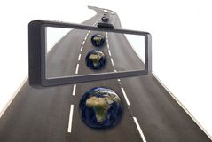 Satellite navigation concept Royalty Free Stock Images