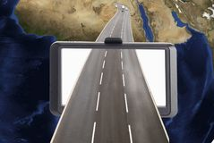 Satellite navigation concept royalty free stock photography