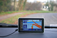 Satellite navigation device Stock Photo
