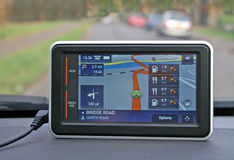 Satellite navigation device Royalty Free Stock Image