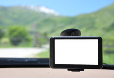 Satellite navigation system. With empty screen Royalty Free Stock Photo