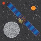 Satellite nello spazio. Fotografia Stock Libera da Diritti