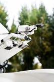 Satellite news gathering antenna Stock Photos