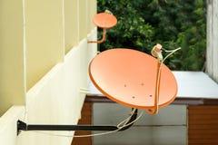 Satellite Orange wall. Royalty Free Stock Photography