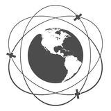Satellite orbit Royalty Free Stock Images
