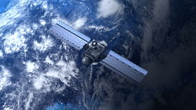 Satellite is orbiting the Earth Royalty Free Stock Images