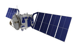 Satellite Over White Background Royalty Free Stock Image