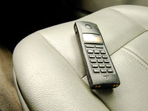 Satellite Phone on the Front Seat Royalty Free Stock Images