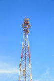 Satellite pillar base station. Stock Images