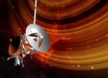 Satellite and planet rings Royalty Free Stock Photos