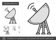 Satellite plate line icon. Stock Photography