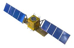 Satellite probe orbital isolated on white background.  stock photos