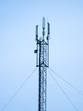 Satellite pylon, telecommunication technology  Royalty Free Stock Photos