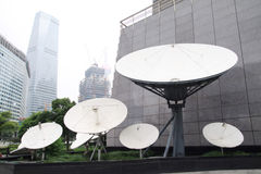 Satellite receiver. Many of the satellite receiver stock image