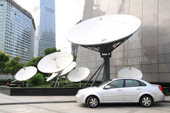 Satellite receiver. Receiver  Many of the satellite receiveand car Royalty Free Stock Photography