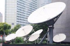 Satellite receiver. Many of the satellite receiver royalty free stock photos