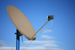 Satellite receiver dish Stock Images