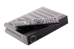 Satellite Receiver with remote controll Royalty Free Stock Image