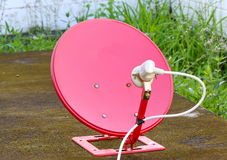 Satellite red Stock Image