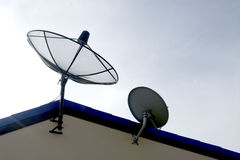 Satellite on roof Royalty Free Stock Photography