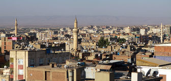 The satellite on the roofs of Diyarbakir. Royalty Free Stock Images