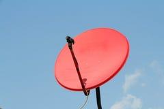 Satellite rouge Images libres de droits