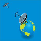 Satellite and Satellite dish Royalty Free Stock Photography