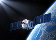 satellite scena 3d Fotografia Stock Libera da Diritti
