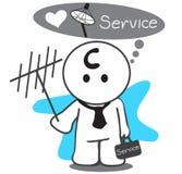 Satellite service man vector illustration