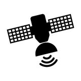 Satellite silhouette isolated icon Stock Photography