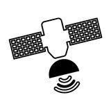 Satellite silhouette isolated icon Stock Image