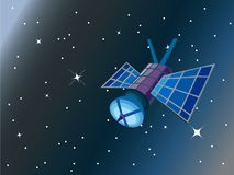 Satellite in space Stock Photo