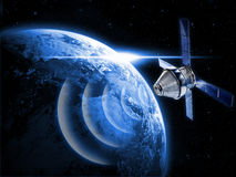 Satellite in space Royalty Free Stock Photo