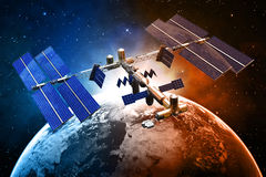 Satellite space station Stock Image
