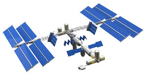 Satellite space station Royalty Free Stock Photo