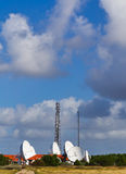 Satellite station on the Danish Royalty Free Stock Photography