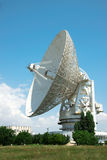 Satellite telecom aerial. Satellite telecom complex with huge aerial aimed to the sky Royalty Free Stock Photography