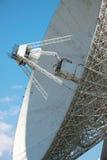 Satellite telecom aerial. Large satellite telecom aerial close up against blue sky Stock Photography