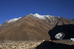 Satellite tower at Zanskar valley,Ladakh,India Stock Photo