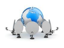 Satellite transfer Royalty Free Stock Images