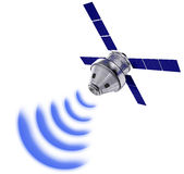 Satellite transmission data isolated Royalty Free Stock Images
