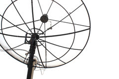Satellite TV. On white background Stock Photos