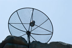 Satellite TV receiver. Modern home technology equipment Stock Photo
