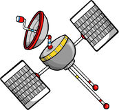 Satellite Vector Illustration. Televison cable cellphone internet Satellite Vector Illustration Stock Images