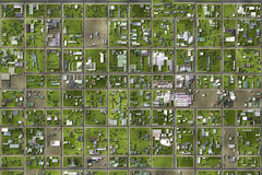Satellite View Stock Photography