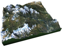 Satellite view of the Dolomites Royalty Free Stock Image