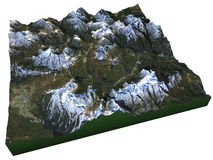 Satellite view of the Dolomites Stock Photography