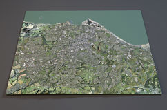 Satellite View of Edinburgh, England Royalty Free Stock Photography