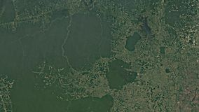 Satellite view of rainforest deforestation 1984-2016