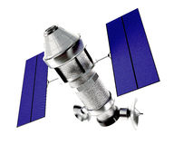 Satellite  on white background Stock Photography